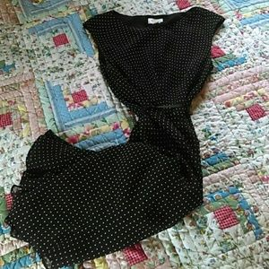 Flowey Off-white & Black Polka-dot Dress